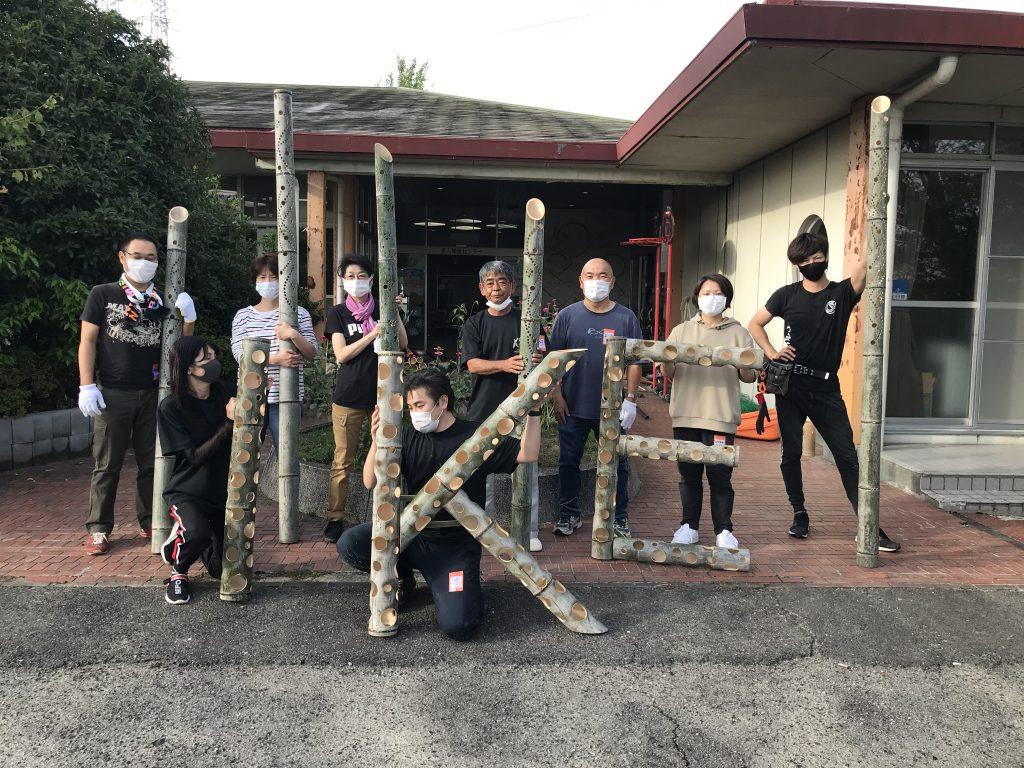 竹オブジェ制作開始